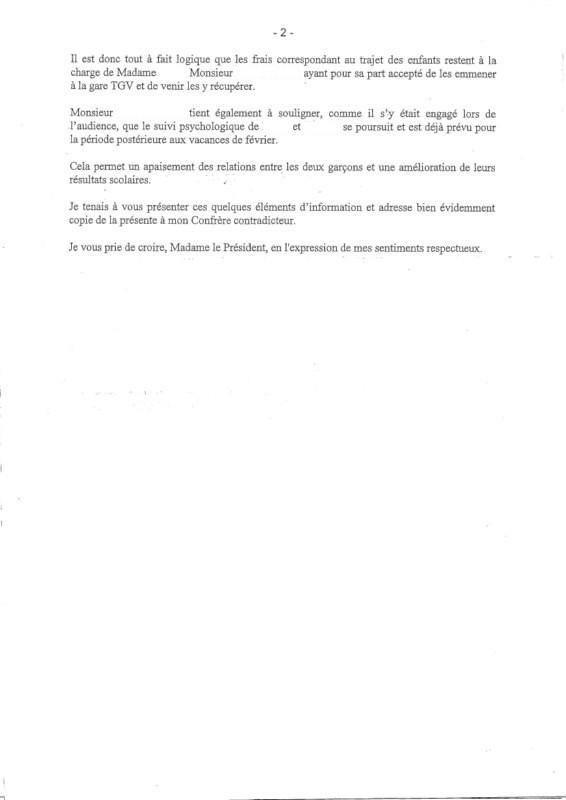 Lettre Avocat Remise De Pièce Partie Adverse 3
